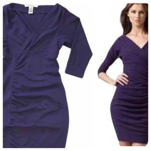 DVF Purple Basuto Bodycon Midi Cocktail Dress 6
